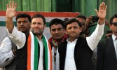 Akhilesh, Rahul release Common Minimum Programme